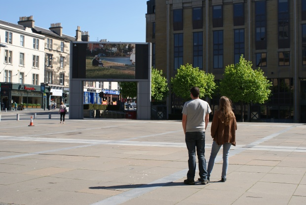 Screening at Festival Square of AutoPark by Osman Bozkurt